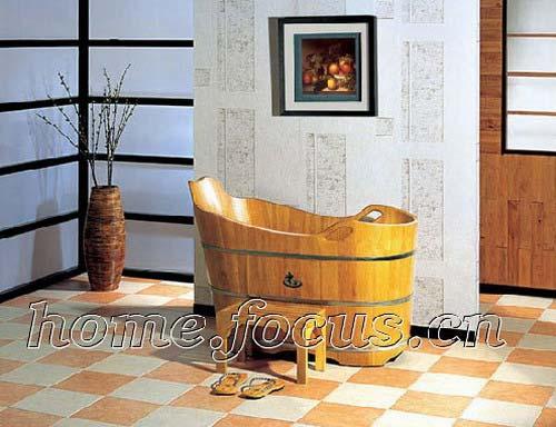 古玩百科:陶瓷浴缸逐渐被淘汰 实木浴桶开始走俏