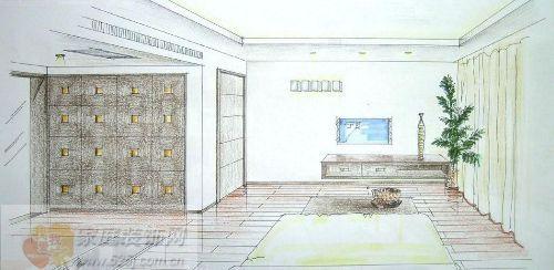 三楼主卧手绘效果图