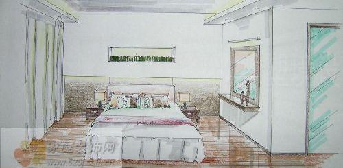 二楼主卧手绘效果图