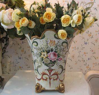 欧式彩绘花瓶